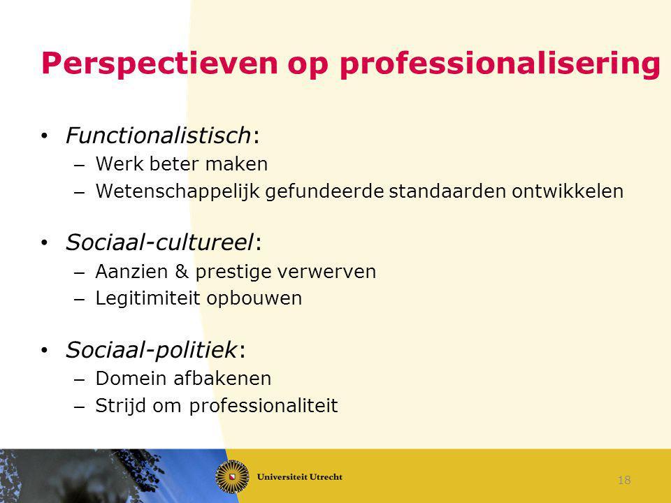 Perspectieven op professionalisering