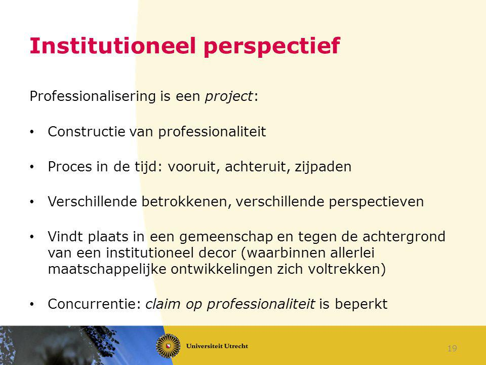 Institutioneel perspectief
