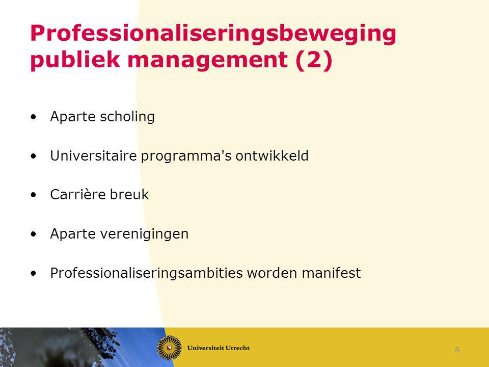 Professionaliseringsbeweging publiek management (2)