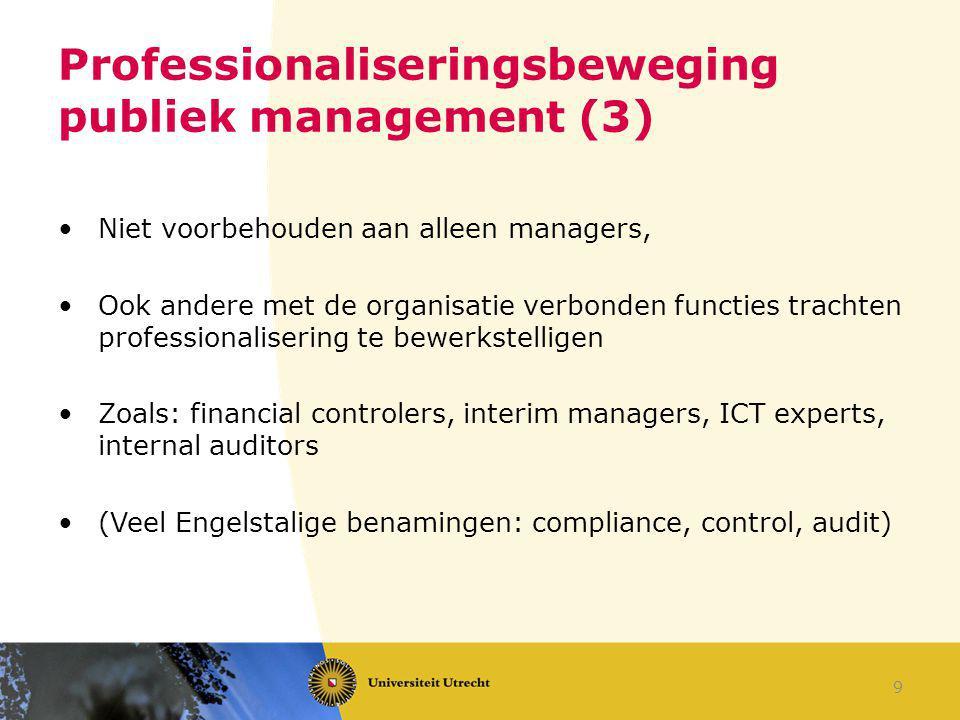 Professionaliseringsbeweging publiek management (3)