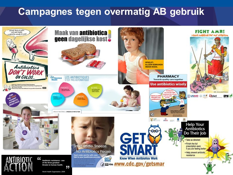 Campagnes tegen overmatig AB gebruik