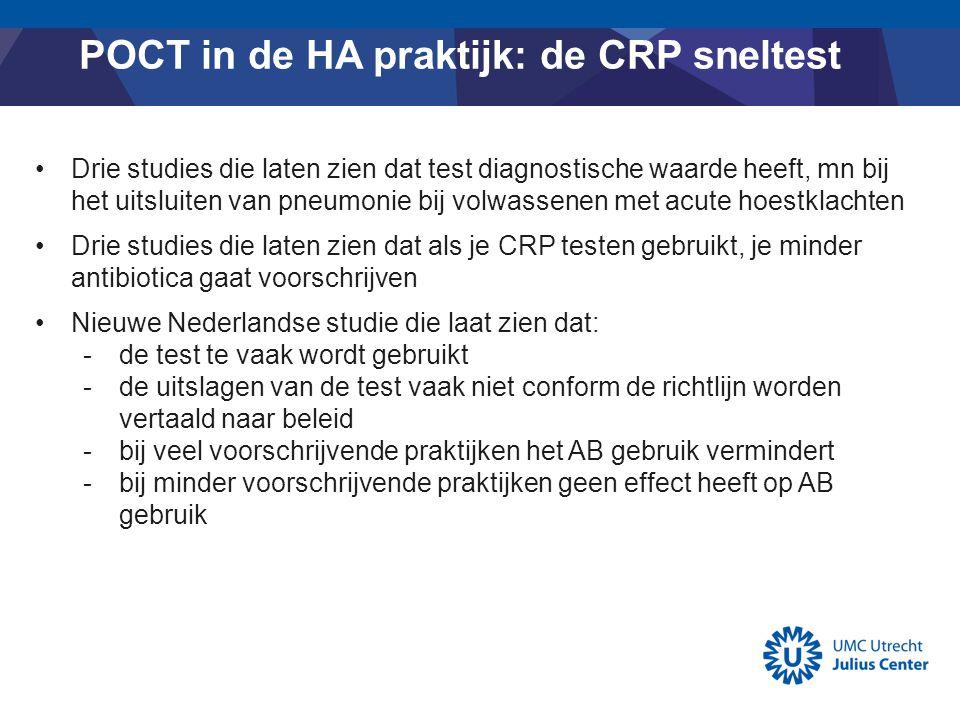 POCT in de HA praktijk: de CRP sneltest