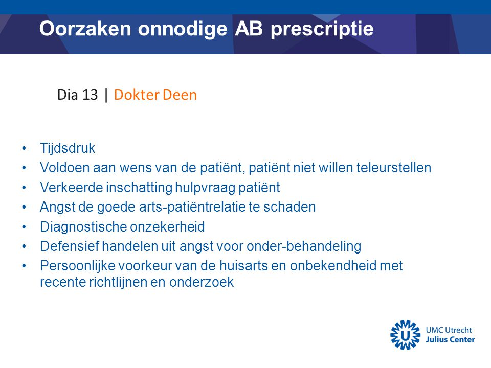 Oorzaken onnodige AB prescriptie