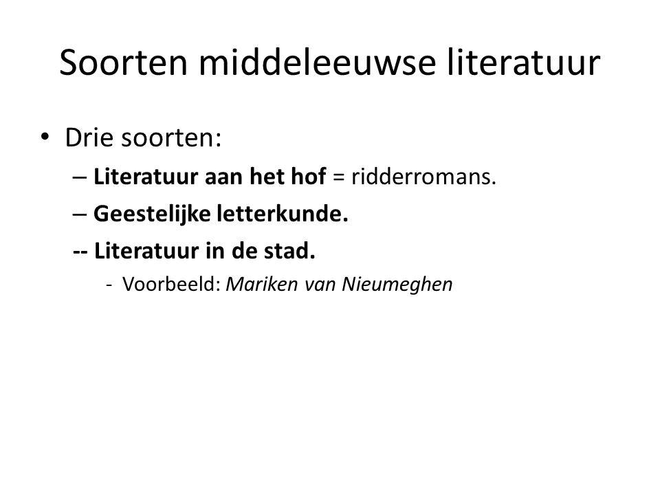 Soorten middeleeuwse literatuur