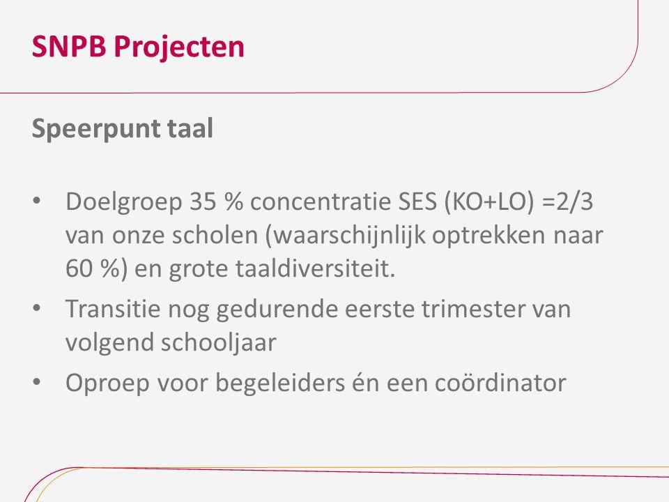 SNPB Projecten Speerpunt taal