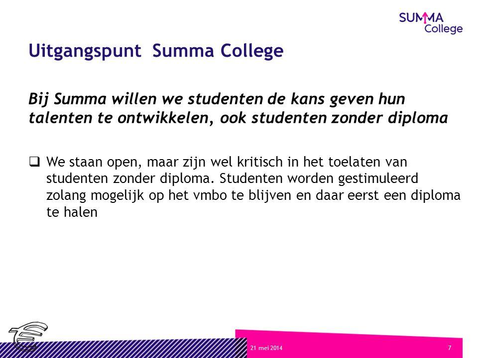 Uitgangspunt Summa College