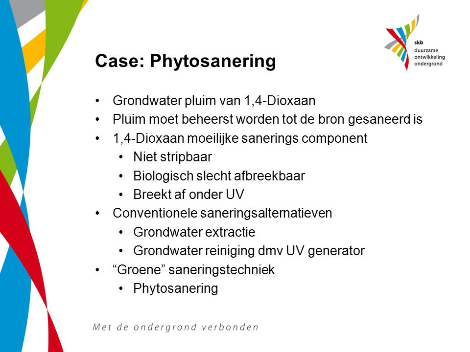 Case: Phytosanering Grondwater pluim van 1,4-Dioxaan
