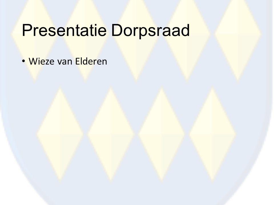 Presentatie Dorpsraad