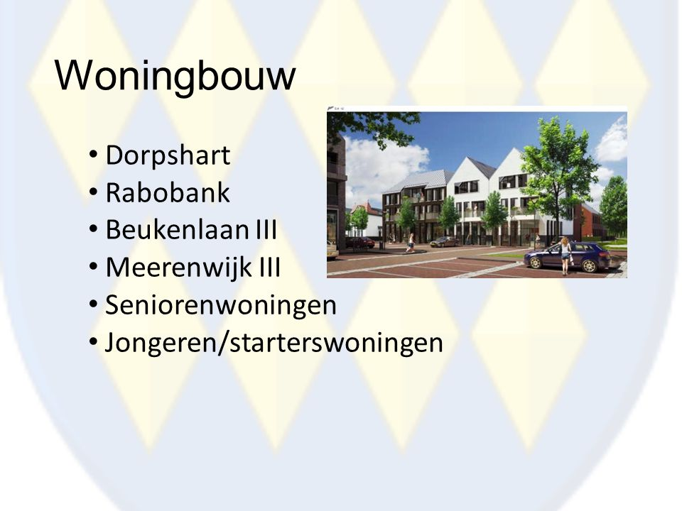Woningbouw Dorpshart Rabobank Beukenlaan III Meerenwijk III