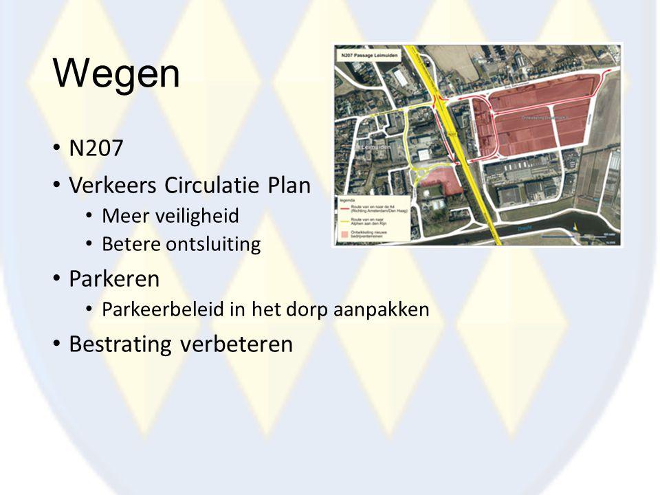 Wegen N207 Verkeers Circulatie Plan Parkeren Bestrating verbeteren