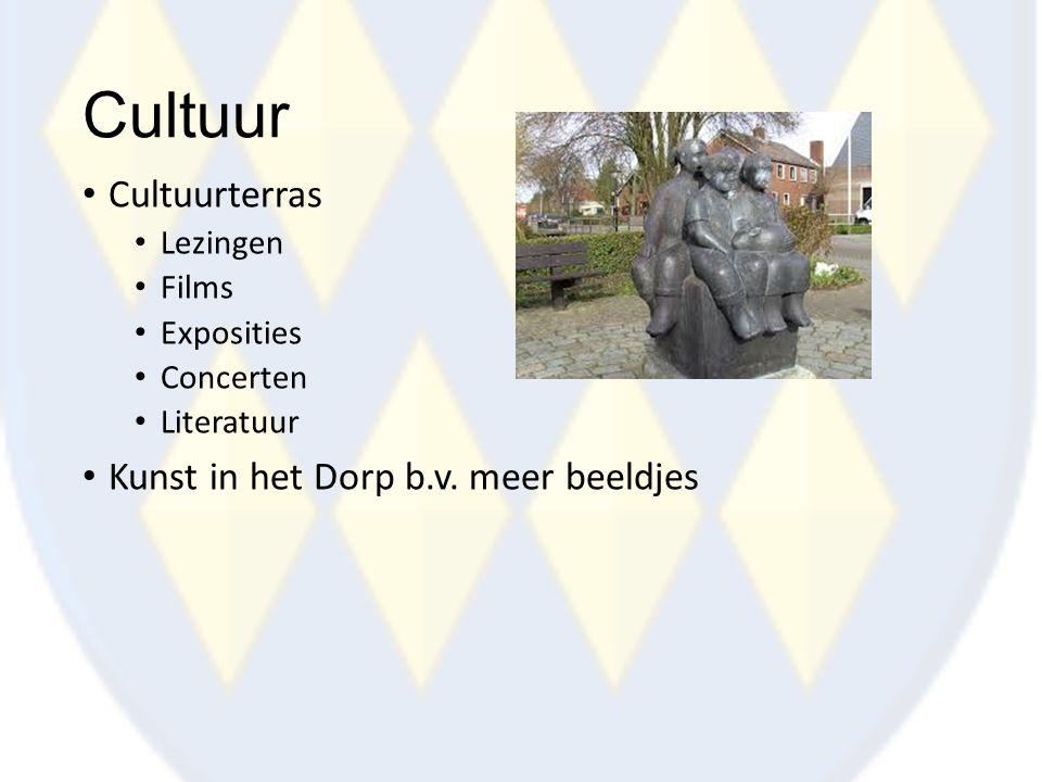 Cultuur Cultuurterras Kunst in het Dorp b.v. meer beeldjes Lezingen
