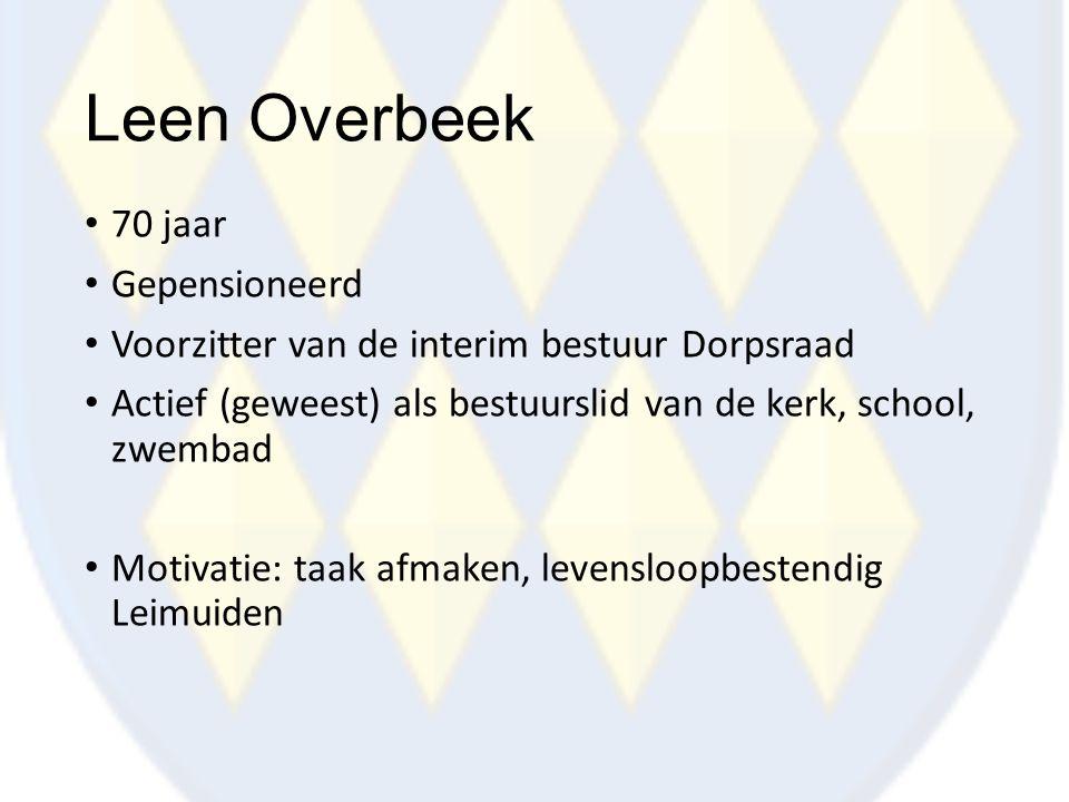 Leen Overbeek 70 jaar Gepensioneerd