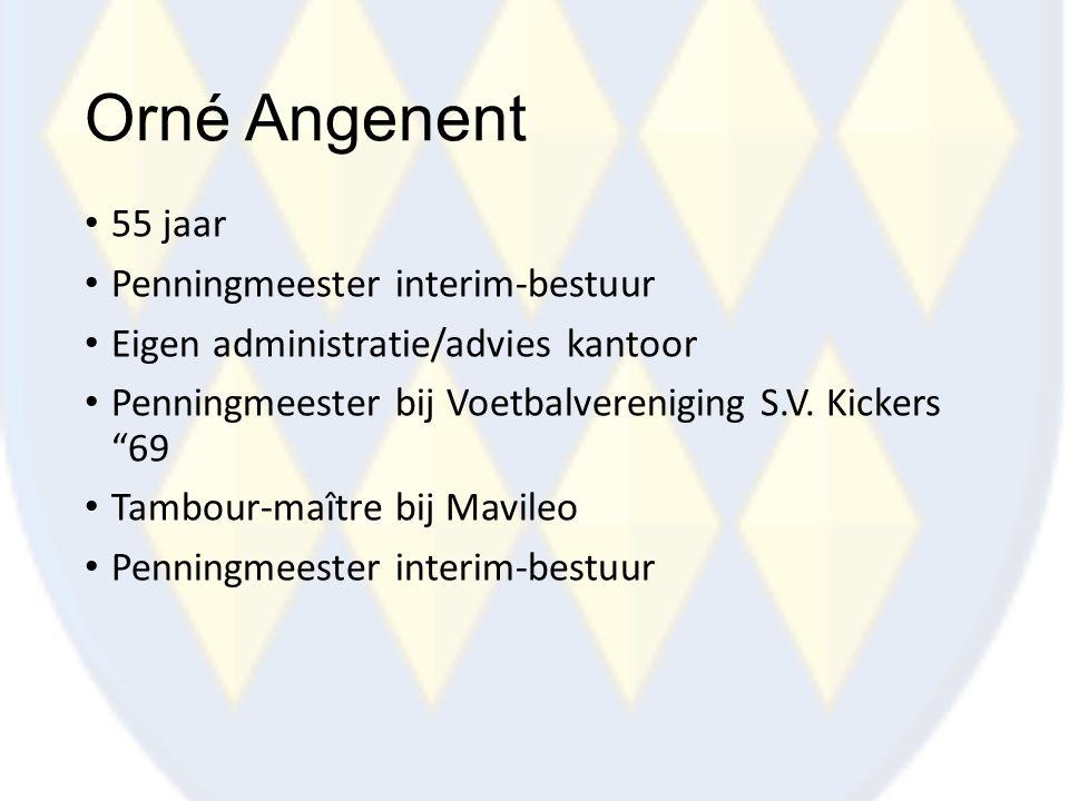 Orné Angenent 55 jaar Penningmeester interim-bestuur