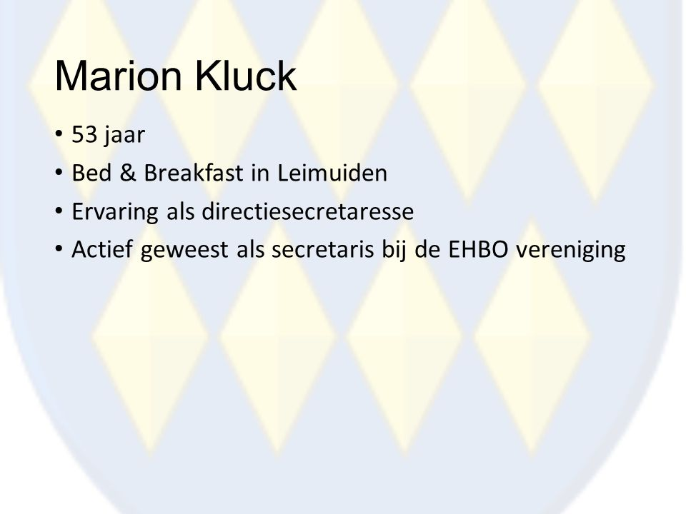Marion Kluck 53 jaar Bed & Breakfast in Leimuiden