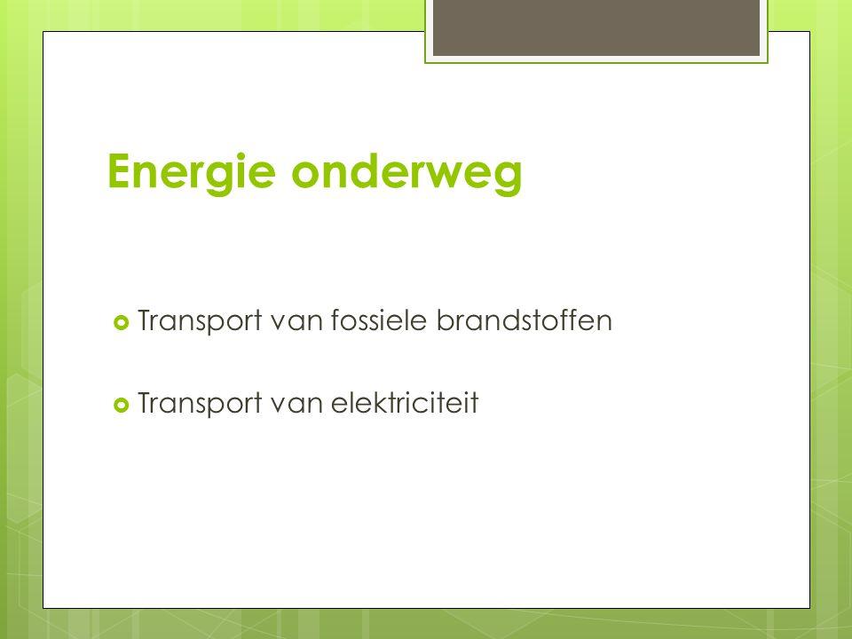 Energie onderweg Transport van fossiele brandstoffen
