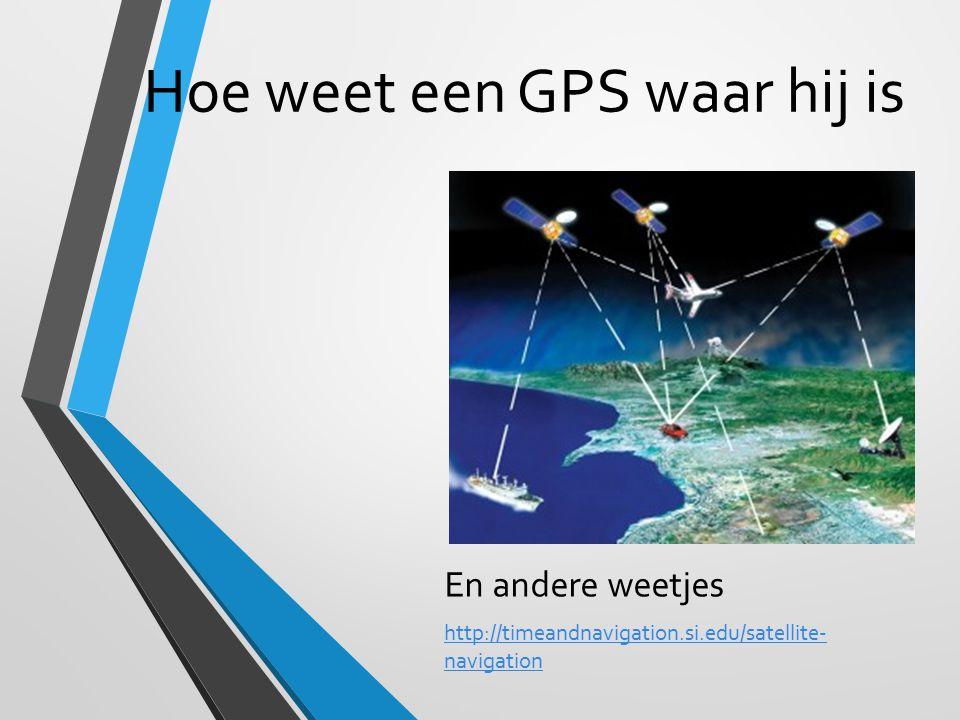 Hoe weet een GPS waar hij is