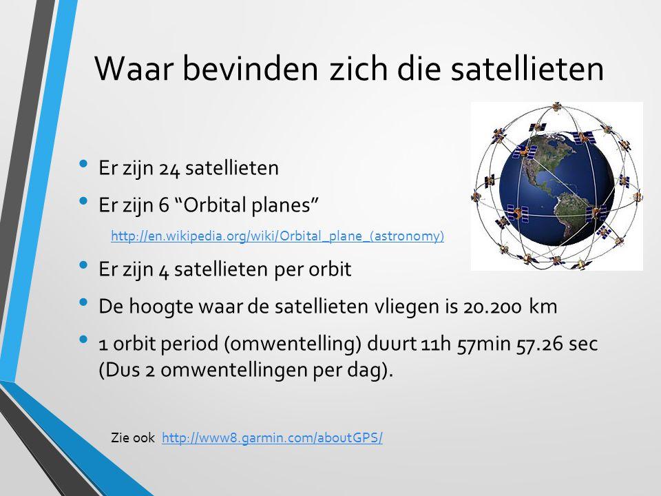 Waar bevinden zich die satellieten