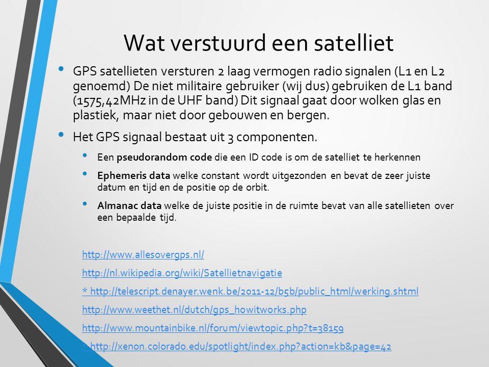 Wat verstuurd een satelliet