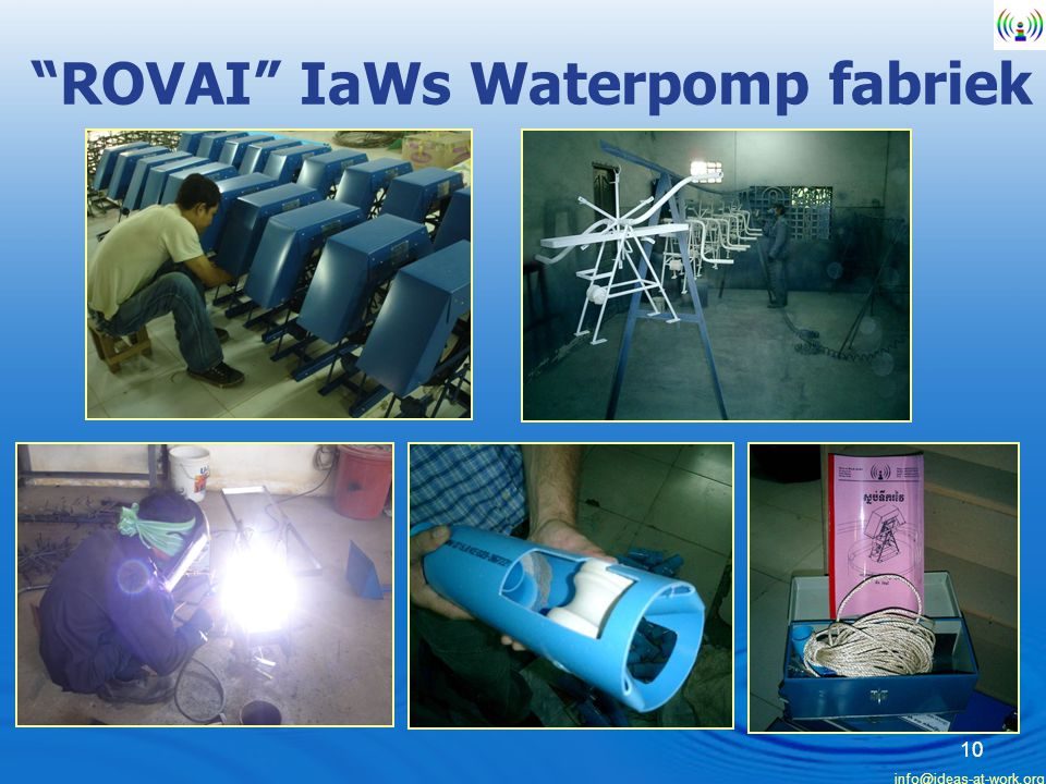 ROVAI IaWs Waterpomp fabriek