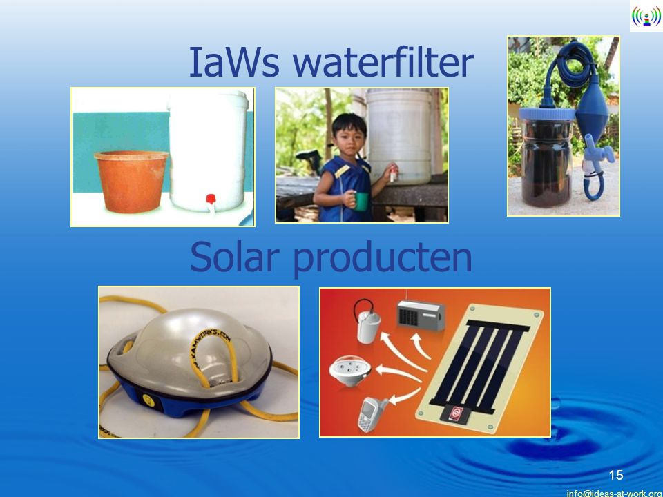IaWs waterfilter Solar producten