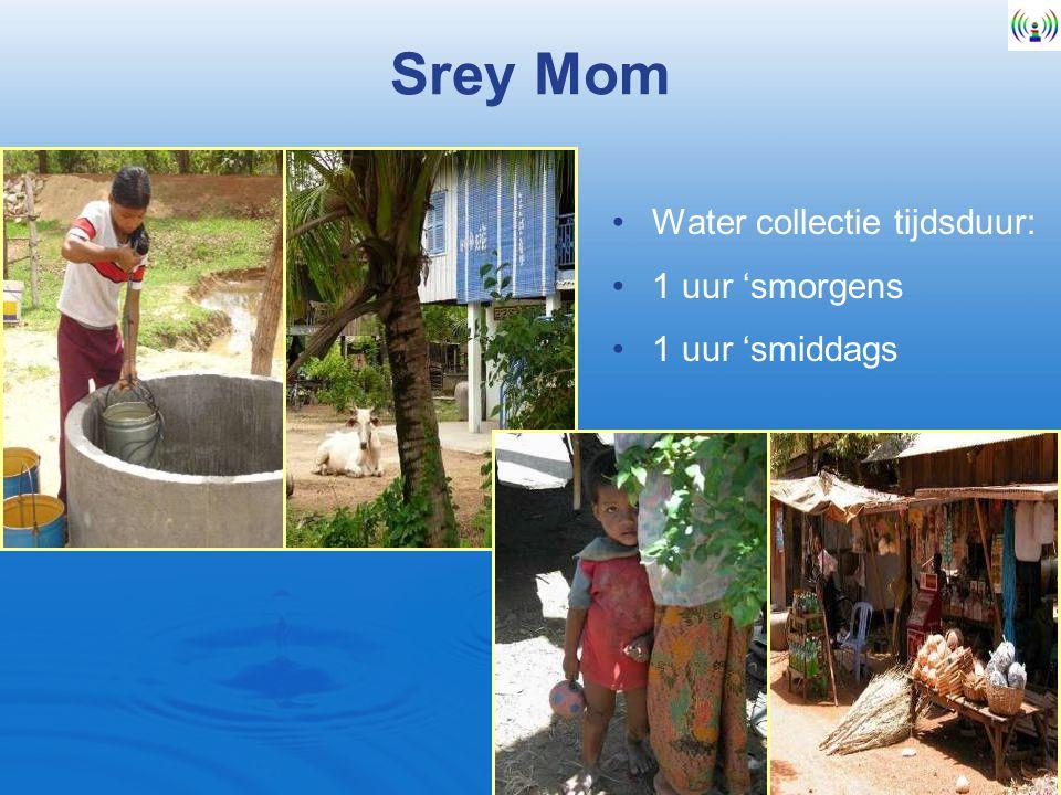 Srey Mom Water collectie tijdsduur: 1 uur 'smorgens 1 uur 'smiddags