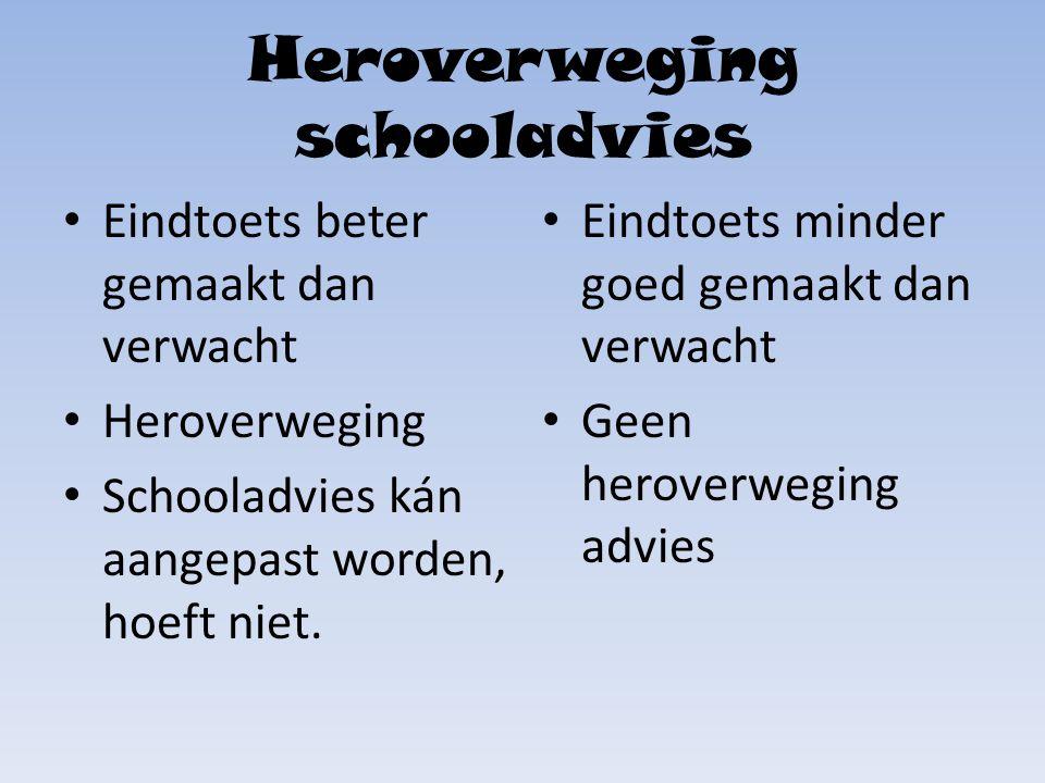 Heroverweging schooladvies