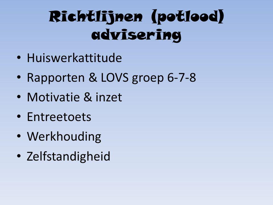 Richtlijnen (potlood) advisering