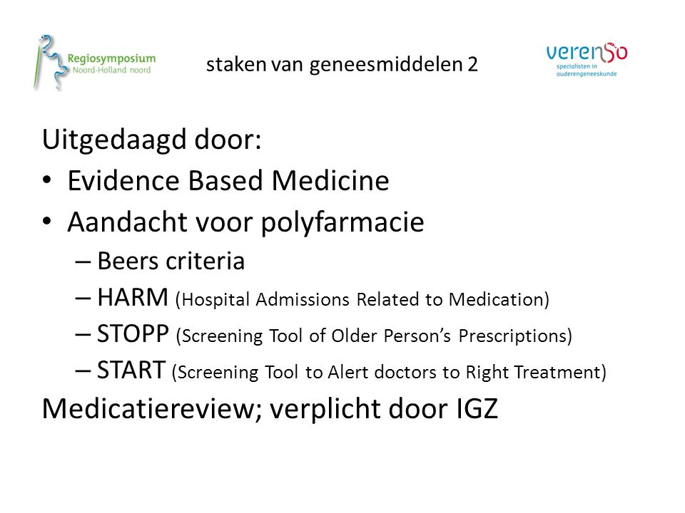 staken van geneesmiddelen 2