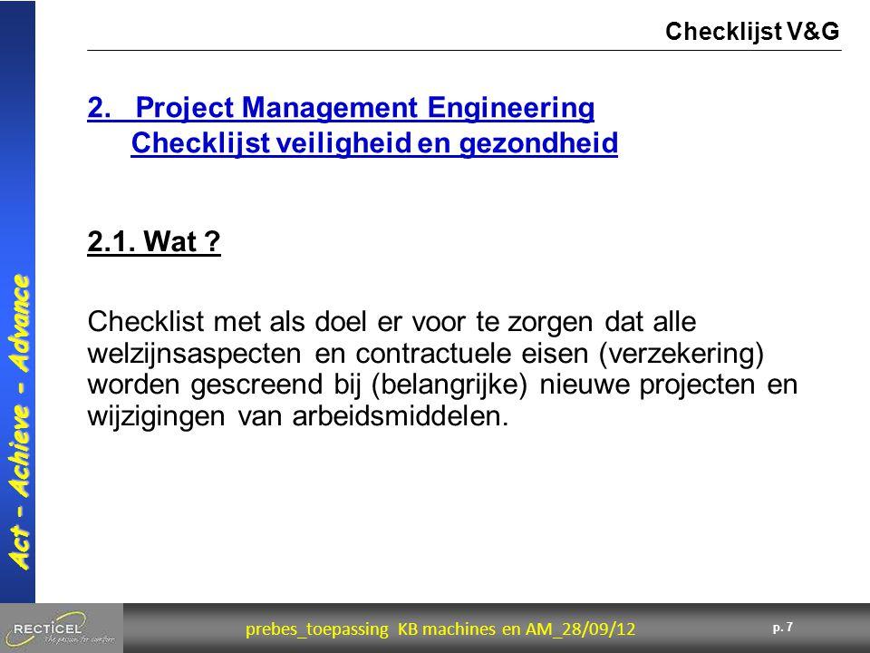 2. Project Management Engineering Checklijst veiligheid en gezondheid