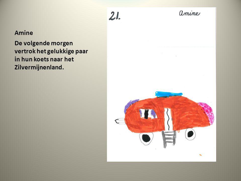 Amine De volgende morgen vertrok het gelukkige paar in hun koets naar het Zilvermijnenland.