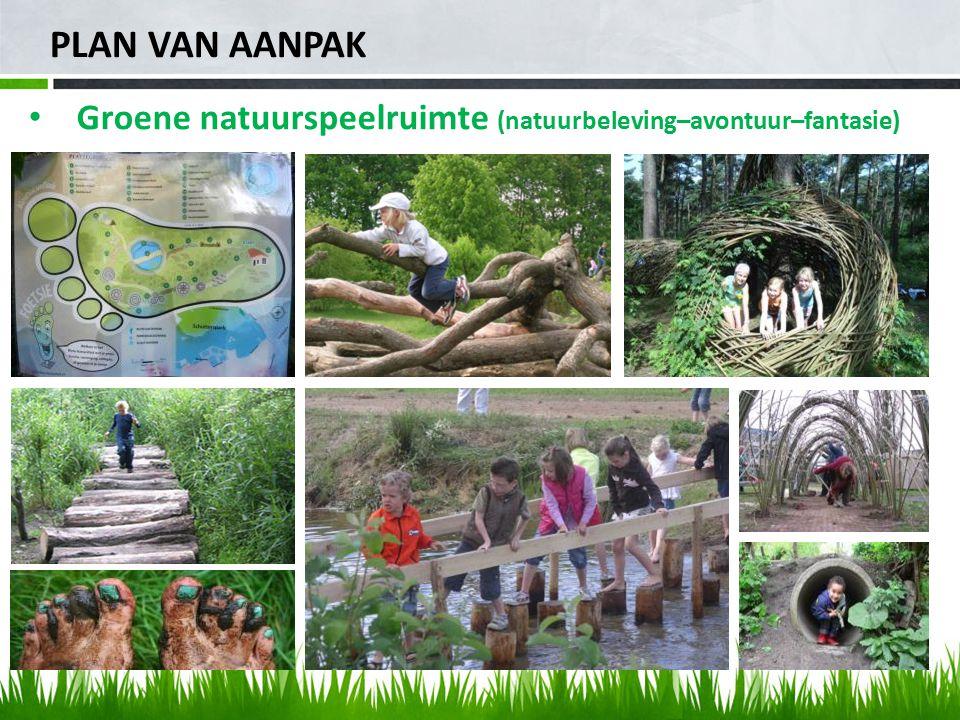 PLAN VAN AANPAK Groene natuurspeelruimte (natuurbeleving–avontuur–fantasie)