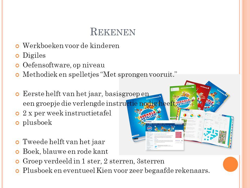 Rekenen Werkboeken voor de kinderen Digiles Oefensoftware, op niveau