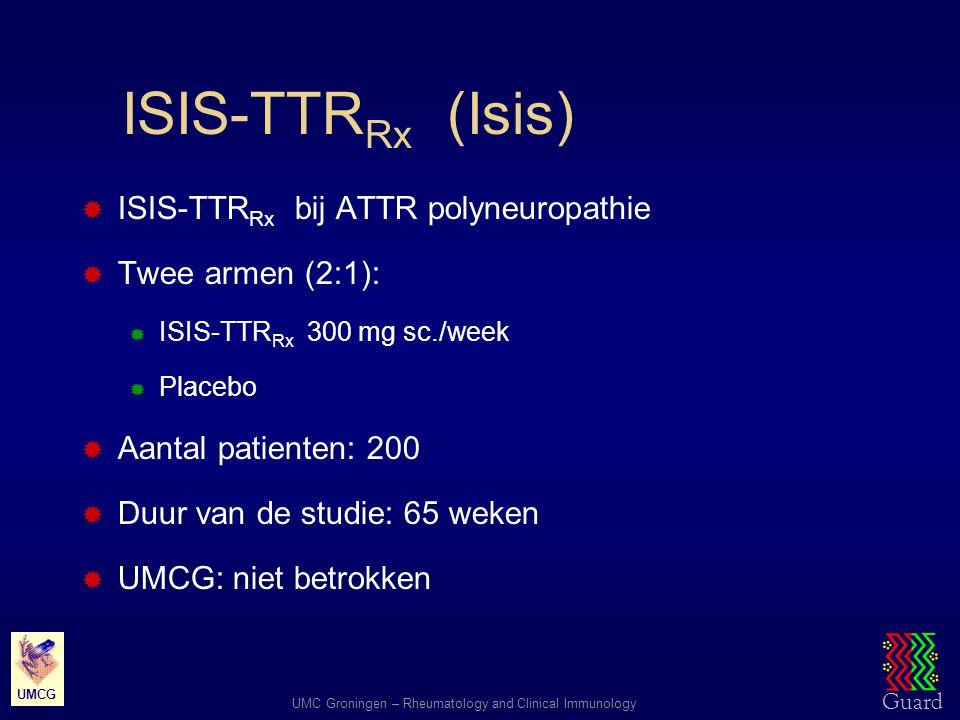 ISIS-TTRRx (Isis) ISIS-TTRRx bij ATTR polyneuropathie