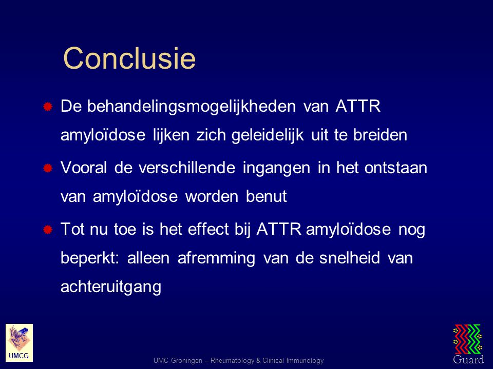 Conclusie De behandelingsmogelijkheden van ATTR amyloïdose lijken zich geleidelijk uit te breiden.