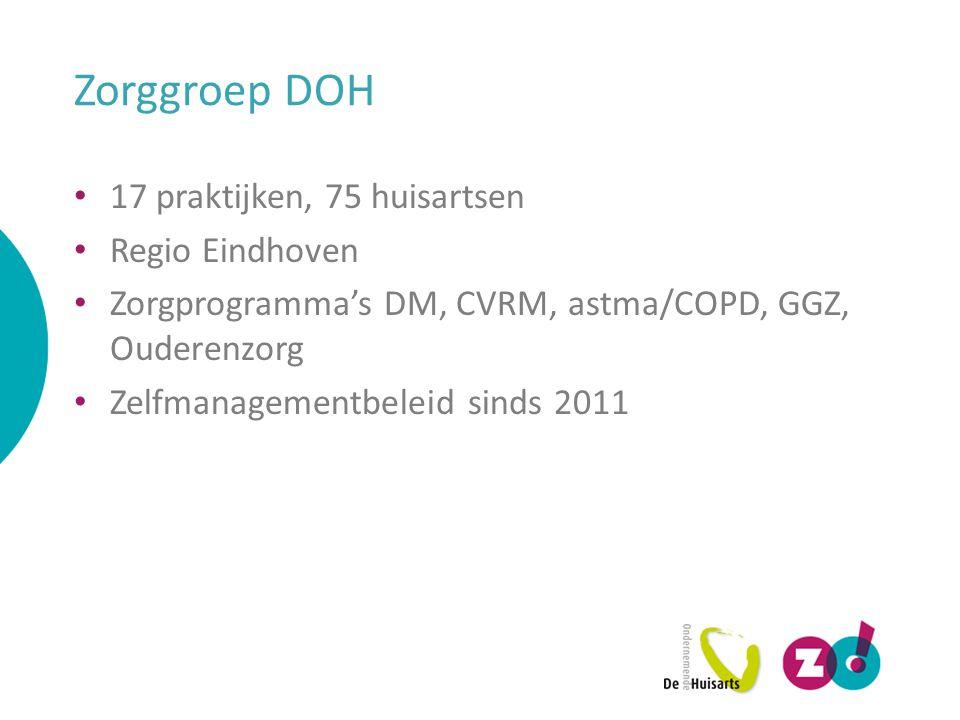 Zorggroep DOH 17 praktijken, 75 huisartsen Regio Eindhoven