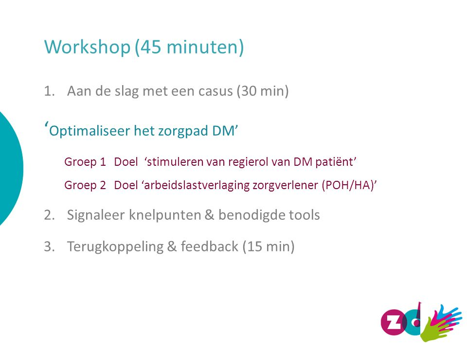 'Optimaliseer het zorgpad DM'