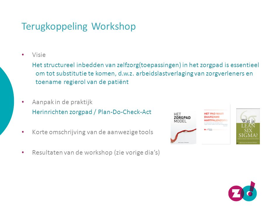 Terugkoppeling Workshop