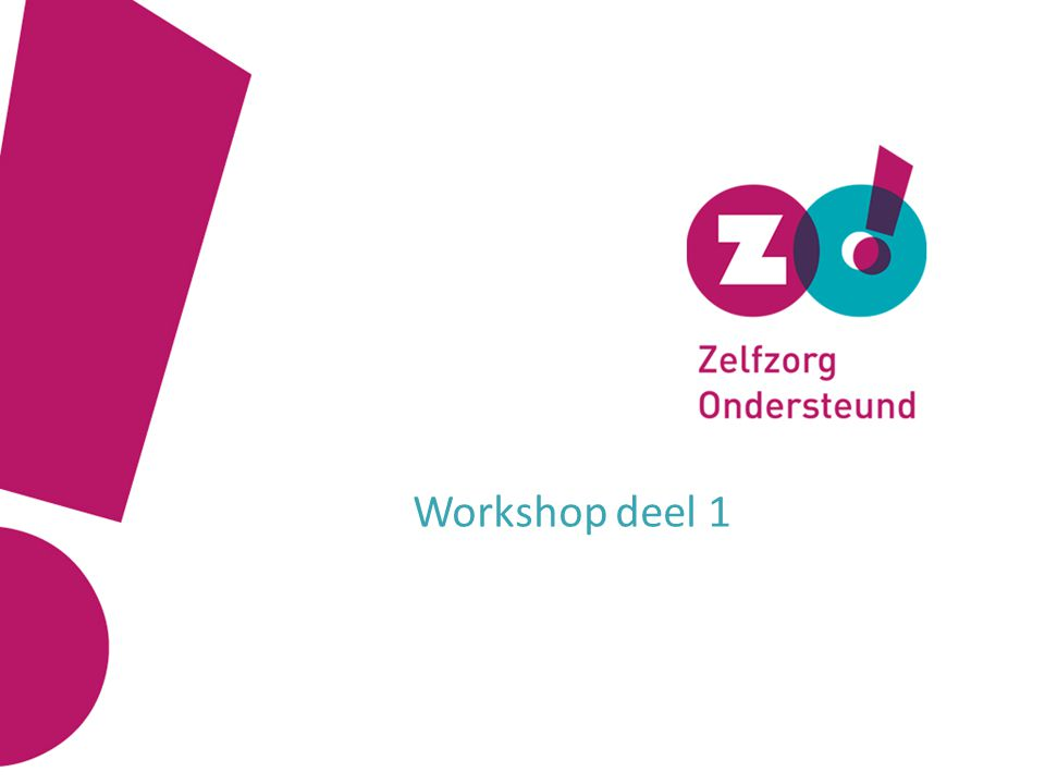 Workshop deel 1