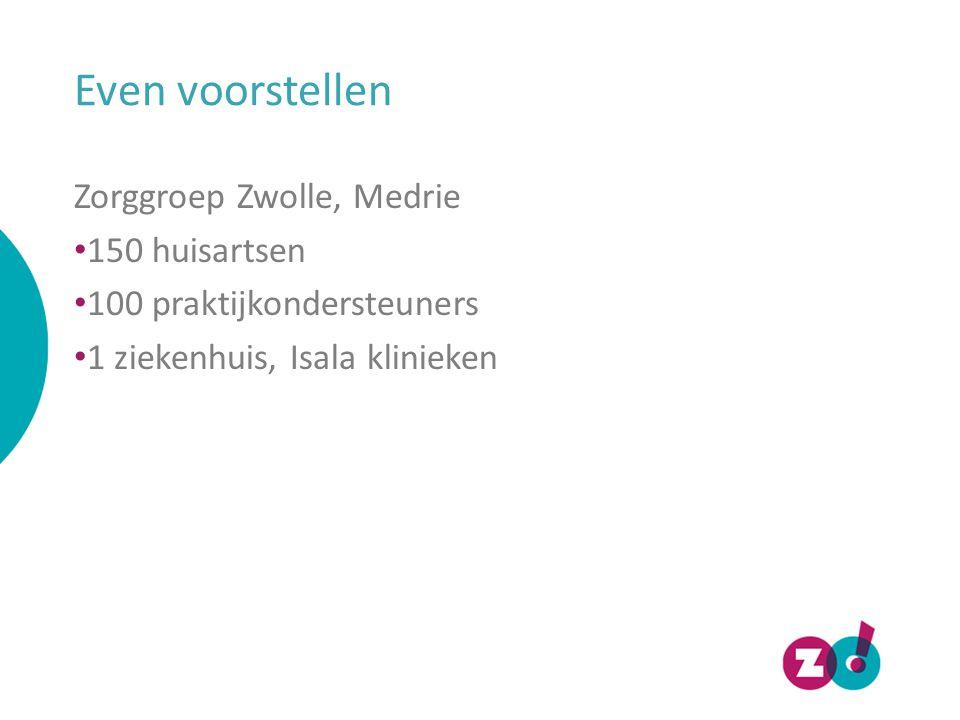 Even voorstellen Zorggroep Zwolle, Medrie 150 huisartsen