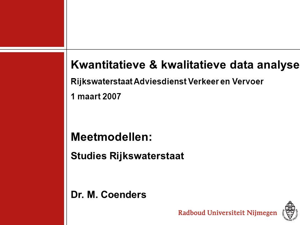 Kwantitatieve & kwalitatieve data analyse
