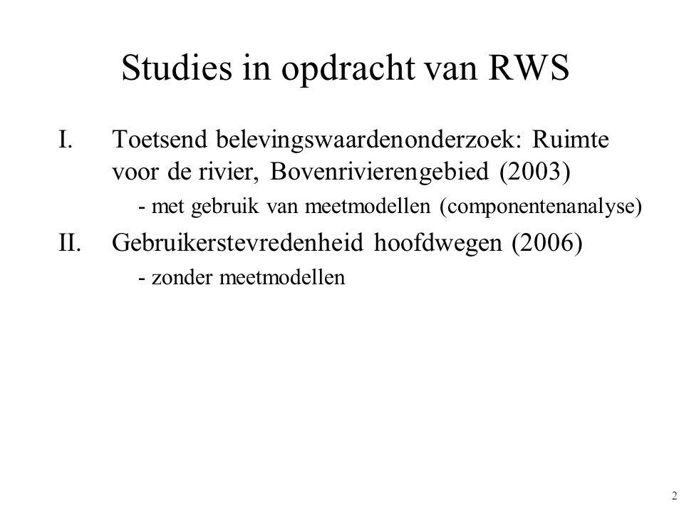 Studies in opdracht van RWS