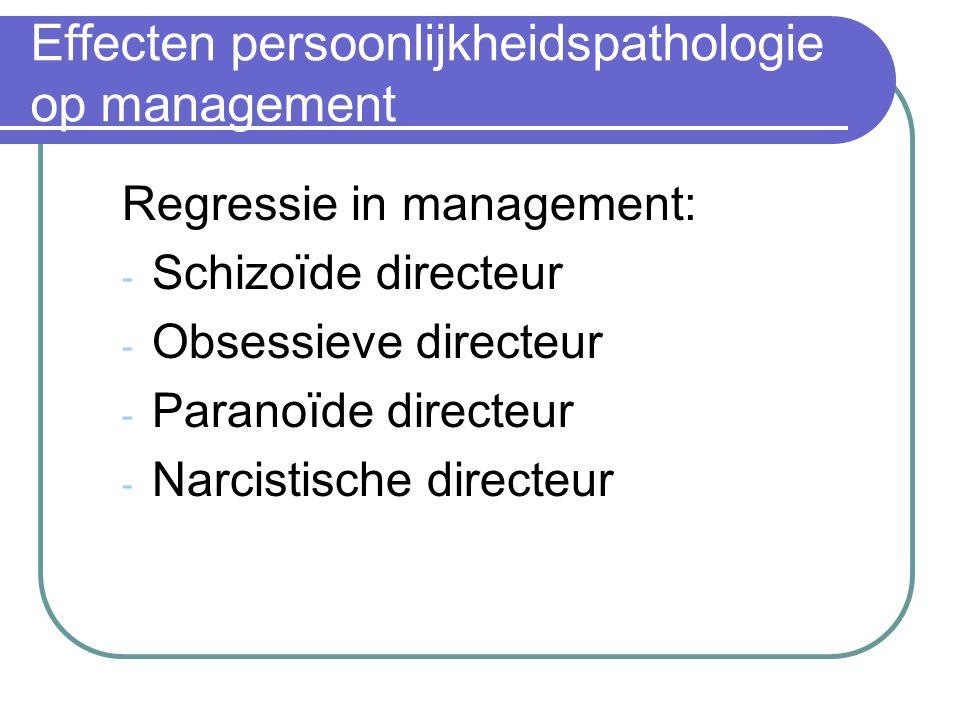 Effecten persoonlijkheidspathologie op management