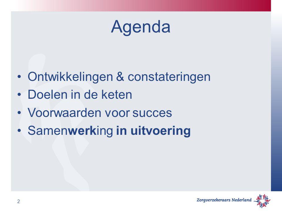 Agenda Ontwikkelingen & constateringen Doelen in de keten