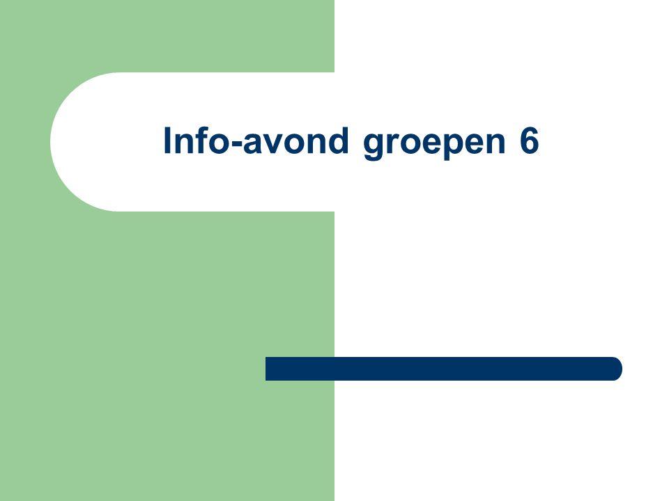 Info-avond groepen 6