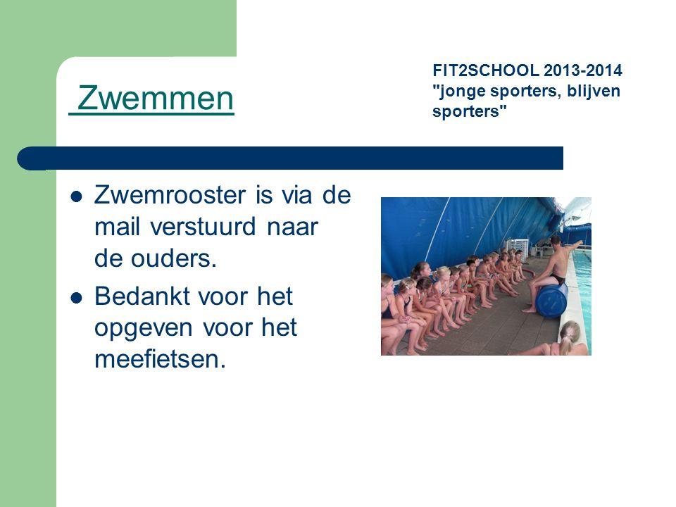 Zwemmen Zwemrooster is via de mail verstuurd naar de ouders.