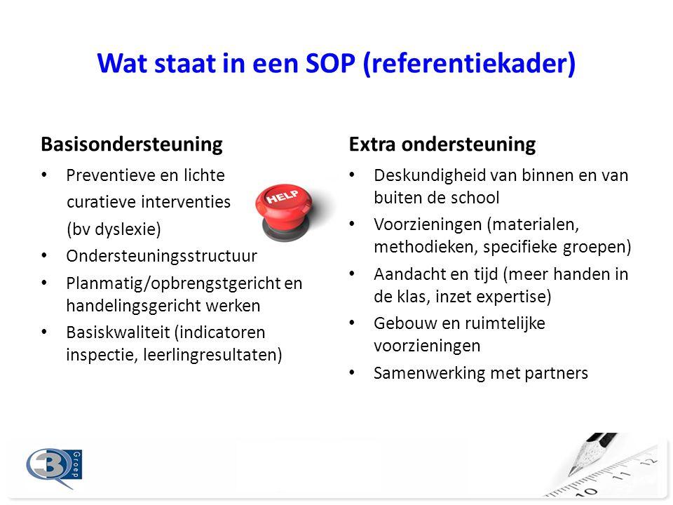Wat staat in een SOP (referentiekader)