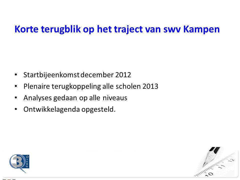 Korte terugblik op het traject van swv Kampen