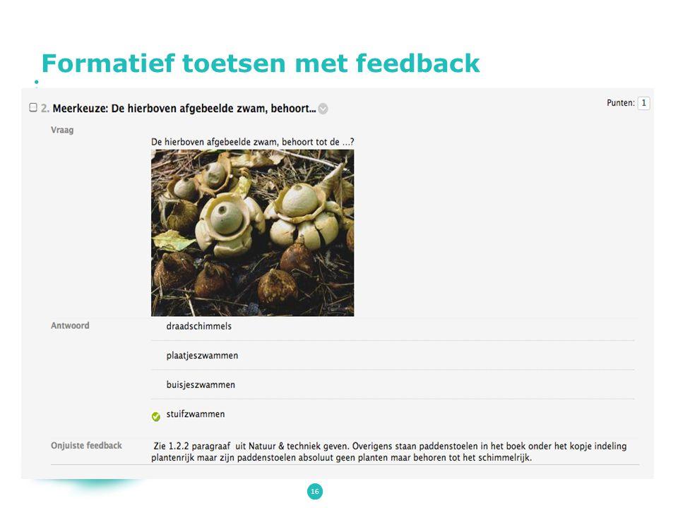 Formatief toetsen met feedback