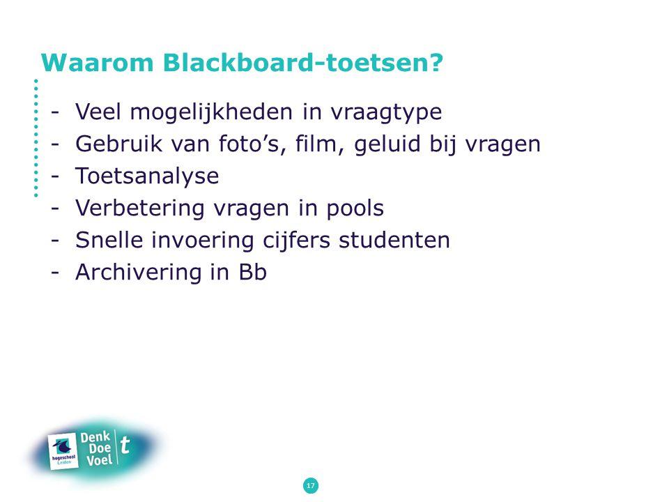 Waarom Blackboard-toetsen