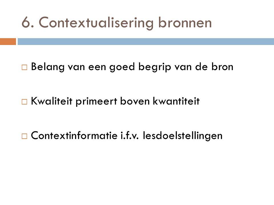 6. Contextualisering bronnen